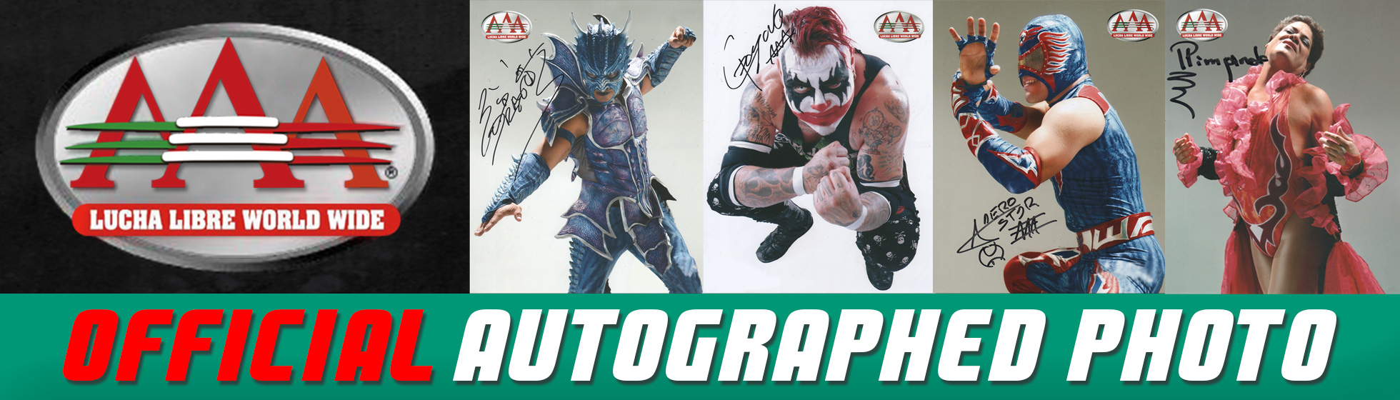 AAA CFFICIAL AUTOGRAPHED PHOTOS